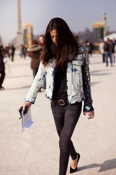 denim, leather, pins, & studs    dying for denim and leather right now!