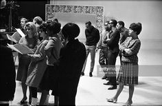 The Supremes - Florence Ballard with The Four Tops rehearsing for TV show Hullabaloo in New York. Air date December 1965 Diana Ross Supremes, Berry Gordy, Four Tops, 70s Music, Billboard Hot 100, Soul Music, Motown, Florence, Musicals