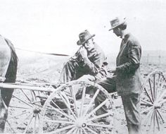Kankakee County Farm Adviser John Collier, pictured here in 1912, assisted farmers in improving their productivity and profitability. Farm Advisers, who traveled the countryside testing the soil of Farm Bureau members, suggested crop rotations, limestone or other soil amendments and advising on animal husbandry practices.