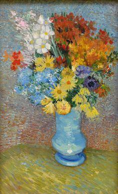 lonequixote:Flowers in a Blue Vase~Vincent van Gogh