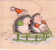 See Snow Fun (Hedgehogs) by Penny Black on Addicted to Rubber Stamps!
