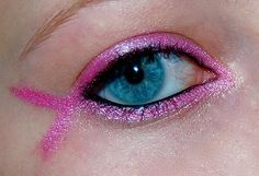 The Makeuptress: Breast Cancer Pink Ribbon going to sport this for the dirty girl mud run! We could do teal, although I am not sure makeup will be worn....