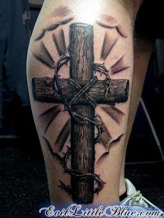 Wooden Cross - 50 Creative Cross Tattoo Designs  <3 !