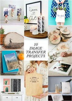10 Must-Try Image Transfer Projects - great tutorials for putting pictures and other images on pretty much everything! These are great DIY gift ideas