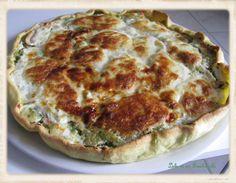 Tarte courgettes, saumon fumé, mozzarella (2)