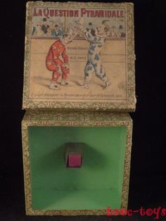 Vintage dexterity puzzle game french the pyramidal issue 1910 circus clown PARIS   eBay