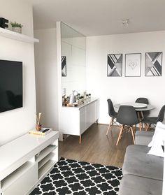 Condo Living, Home And Living, Small Room Decor, Minimalist Room, Home Decor Kitchen, Apartment Design, Home Interior Design, Living Room Designs, Decoration