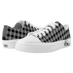 #Low top Gingham Unisex Zipz Shoes Sneakers - #giftideas for #kids #babies #children #gifts #giftidea