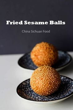 Famous dim sum fried sesame balls made with glutinous rice flour and filled with red bean paste; Also known as Jian Dui in Chinese. Asian Desserts, Asian Recipes, Sushi Frito, Red Bean Paste, Asian Cooking, Dim Sum, Chinese Food, Chinese Egg, Food And Drink