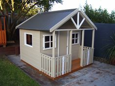 ideas for Ruby's cubby house makeover Cubby Houses, Play Houses, Backyard Play, Cubbies, Kids Playing, Outdoor Spaces, Tiny House, Shed, Home And Garden