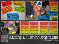 Help your readers understand reading fluency by building a continuum! Primary Teaching, Teaching First Grade, First Grade Reading, Teaching Writing, Teaching Ideas, Reading Lessons, Reading Strategies, Reading Activities, Reading Skills