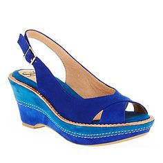 """Sofft """"Betha"""" Slingback Sandals in Ink Blue."""