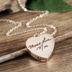 Personalized Cremation Heart Necklace, Rose Gold Heart, Cremation Jewelry, Ash Jewelry, Heart Cremation Pendant, Urn Necklace For Ashes, Cremation Necklace, Memorial Gift