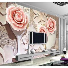 Wallpaper With 3d Effect, 3d Wallpaper Flower, 3d Wallpaper For Walls, Custom Wallpaper, Photo Wallpaper, Painting Wallpaper, Mural Floral, Flower Mural, Floral Wall