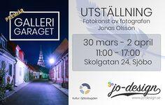 """Välkomna att besöka min utställning under påskdagarna! 30 mars - 2 april Jag ställer ut minfotokonst hemma hos mig i nyöppnade """"Galleri Garaget"""" på Skolgatan 24 i Sjöbo. -Porten öppnas kl 11:00 och stänger kl"""