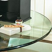 Round Glass Table Tops with Pencil Polished Edge