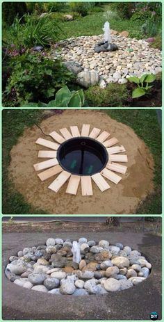 DIY Disappearing Water Fountain Instruction - DIY Fountain Landscaping Ideas & Projects