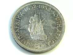 UNC 5 SHILLINGS SOUTH AFRICA  SILVER COINS 1952   CO -123 silver coins ,  south africa  silver coin  , ,silver bullion coin Bullion Coins, Silver Bullion, Coin Auctions, Old Coins, Silver Coins, South Africa, African, Money, Personalized Items