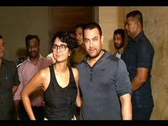 WATCH Aamir Khan with wife Kiran Rao at the special screening of the movie COURT.  See the video at : http://youtu.be/JdEjRggMSFE #aamirkhan #bollywood #bollywoodnews