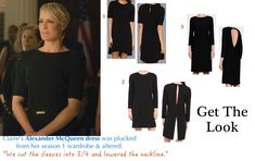 claire underwood robin wright house of cards black dress season 2 episode 2 chapter 15