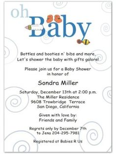 Baby Boy Shower baby girl shower Baby Shower Invitations ideas ...