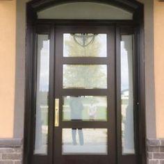 Side Light Entry Doors | Amberwood Doors Inc. Modern Wooden Doors, Wooden Main Door Design, Front Door Design, Entry Doors, Front Doors, Double Doors Exterior, New Homes, Front Porches, Ghana