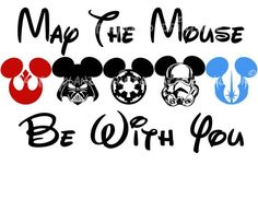 Mouse Be With You Star Mickey Gang Family Trip 2014 DIY Printable Iron Transfer Disney trip shirt vacation Disney Cruise Wedding maleficent