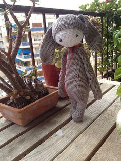 RITA the rabbit made by SandreetCie / crochet pattern by lalylala