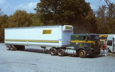 Builders Transport Freightliner Truck Tractor Trailer Original Photo Slide
