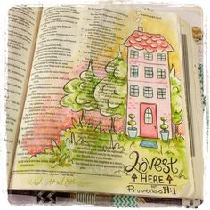 bible art or Journaling bible entry for the book of Proverbs for illustrated faith (#illustratedfaith) on Instagram check out the rest under Fischtales on instagram