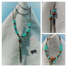 Juego Vera Turquoise Necklace, Casual, Jewelry, Fashion, Game, Moda, Jewlery, Jewerly, Fashion Styles
