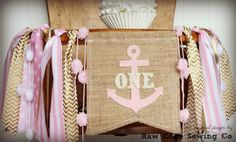 For Rent Chairs And Tables Anchor Birthday, Gold Birthday, Nautical Party, Nautical Anchor, Boat Girl, Birthday Highchair, Scandinavian Dining Chairs, High Chair Banner, Pink Parties