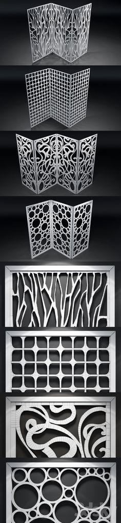 models: Other decorative objects - Set of decorative panels Decorative Panels, Decorative Objects, Laser Cut Screens, Sliding Wall, Grill Design, Doodle Patterns, Elements Of Art, Metal Furniture, Door Design