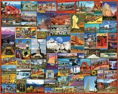 Best Places in America Jigsaw Puzzle - 1000 Pieces