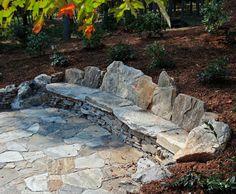 diy stone bench - Google Search