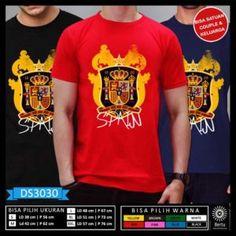 T-Shirt Piala Dunia Rusia 2018 Spain