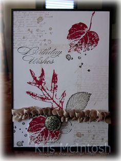 Leafy Birthday by krismac - Cards and Paper Crafts at Splitcoaststampers