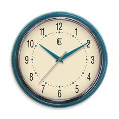 @Andrea Greenberg Retro Plastic Diner Clock in Teal - BedBathandBeyond.com