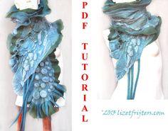 Shibori Felted Textured Ruffled Nuno Felt Scarf door lizetfrijters, $15.00
