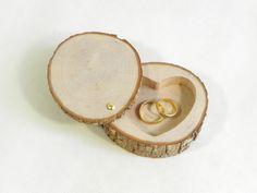 Porte alliances, coussin d'alliances, présentoir à alliances, thème nature en bois naturel, fait main : Presentoir, boîtes par melissa-art-et-creation-deco