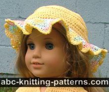 American Girl Doll Buttercup Hat - this site has several free patterns.