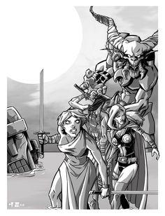 Guards illustration  by Manuel Borras