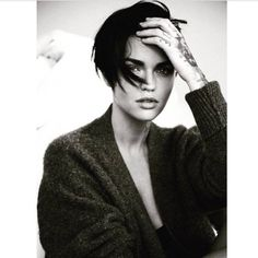 Hair by John D at Forward Artists for Ruby Rose / L'Officiel Italia…