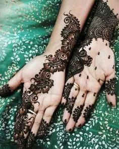 latest mehndi design.... with colors.. !!