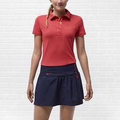 Nike Sport Swoosh Women's Golf Polo. Maybe. Still think skirts are wack when playing sports.
