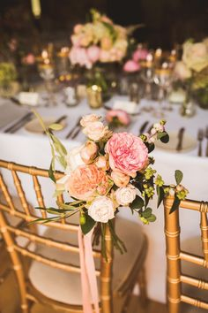 Vera Wang Glamour for a Wonderfully Luxurious Pink and Gold Wedding at Fetcham Park