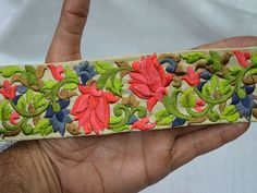 Embroidered Saree Indian Laces Trim Decorative Trims #indianlacesandfebric