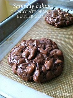 chocolate peanut butter globs. Use almond or coconut flour to make them gluten free.