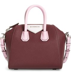 A gorgeous mix of burgundy, pink and ivory leather lends a fresh look to this fan-favorite bag featuring an elegant, compact silhouette and just-right interior.