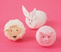 manualidades infantiles con huevo y lana